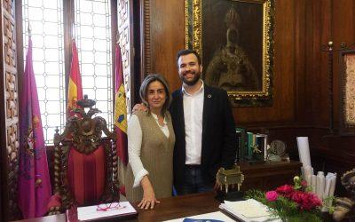 Luis Salaya visita el Ayuntamiento y el Consorcio Ciudad de Toledo para compartir iniciativas de gestión turística y cultural